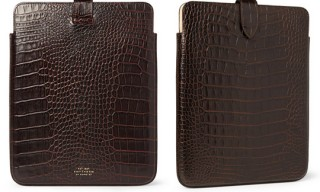 Smythson Crocodile Embossed iPad Case