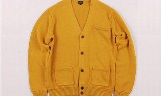 Paul Smith Heavy Knit Yellow Cardigan