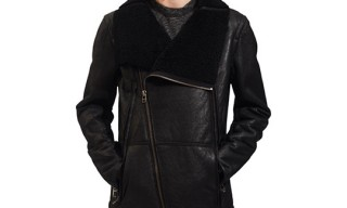 Win This! |  Yigal Azrouël Shearling-Lined Leather Jacket