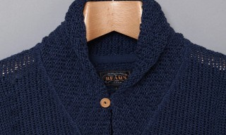 Beams Plus – Linen Shawl Collar Cardigan