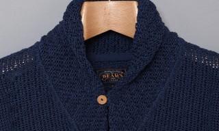 Beams Plus – Linen Shawl Collar Cardigan