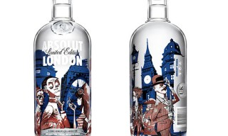 ABSOLUT LONDON Bottle – by Jamie Hewlett (Tank Girl, Gorillaz)
