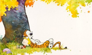 Calvin and Hobbes Watercolor Calendar Cover Up for Auction
