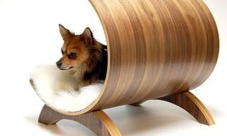Vurv Design Walnut Bent Plywood Walnut Dog Lounge