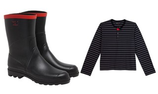 Aigle for agnès b. Rubber Rain Boots and Men's Shirt