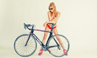 5 Beautiful Road Bicycles, 1 Woman