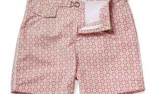 Chucs Mid-Length Print Swim Shorts