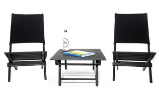 AETHER Apparel and Environment Beach Folding Table and Chairs