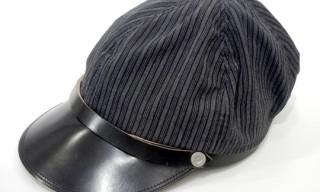Boncoura Black Striped Cap – Cotton & Leather
