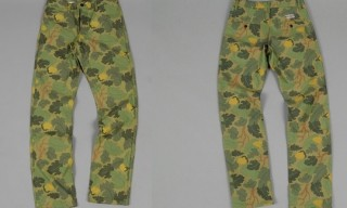 Left Field – Leaf Camo Print Chinos