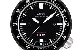 Sinn Model U212 Diving Watch – German Submarine Steel