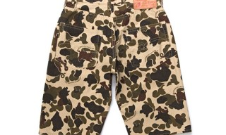 Studio D'Artisan 5 Pocket Camo Shorts