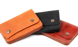 Roberu – Half Fold Leather Snap Wallet