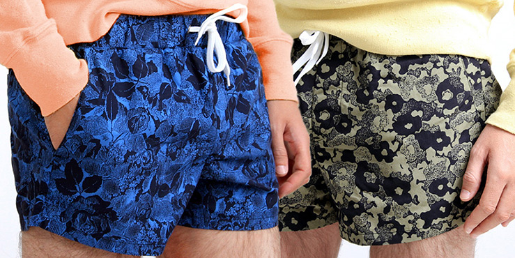 Acne Vector Floral Print Shorts