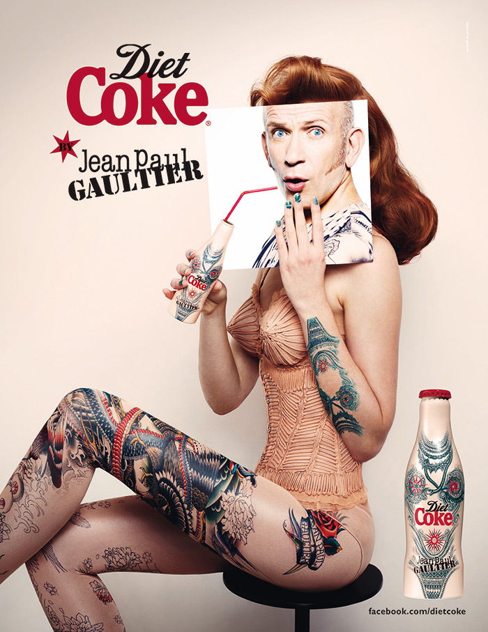 Diet Coke By Jean Paul Gaultier – Tattoo Bottle