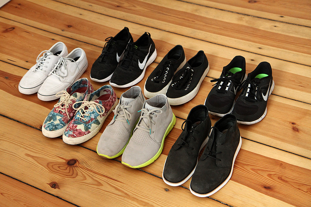 7 Nike, Pro-Keds, Converse, and Cole Haan Sneakers I Packed
