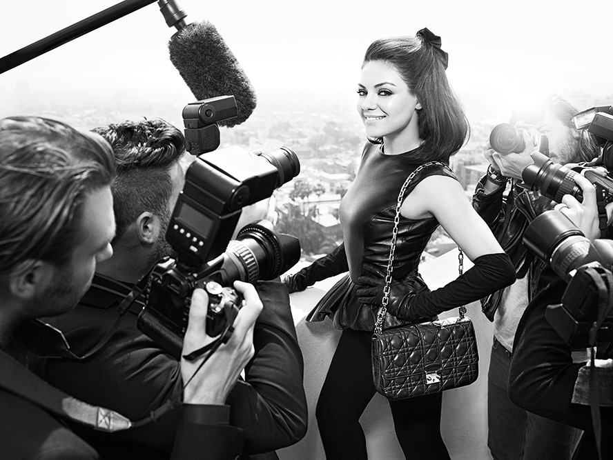 Mila Kunis is the face of Miss Dior Bags Fall Winter 2012 Campaign