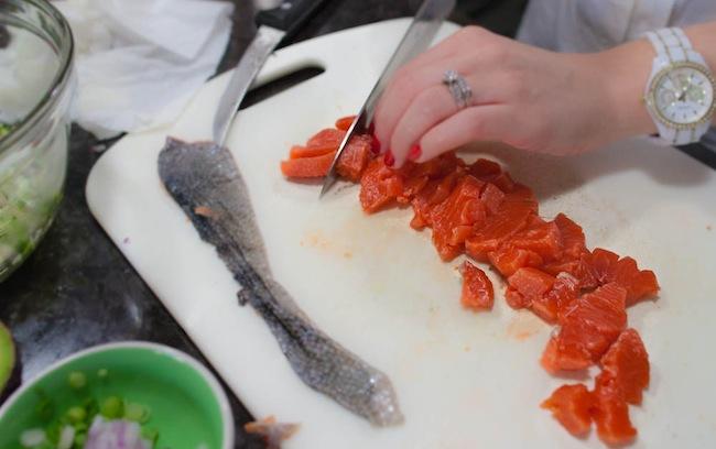 Simple Salmon Tartare