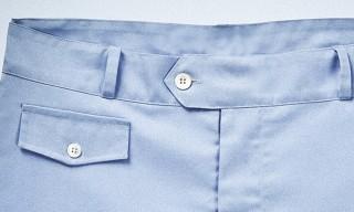 Sunspel James Bond Style Pale Blue Swim Shorts