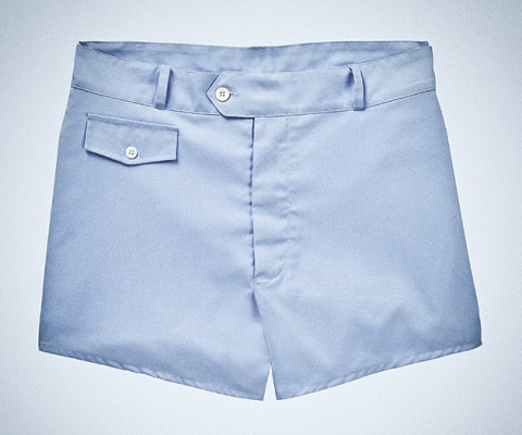 Sunspel James Bond Style Pale Blue Swim Shorts