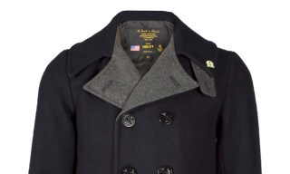 Fidelity Contrast Lining Naval Peacoat