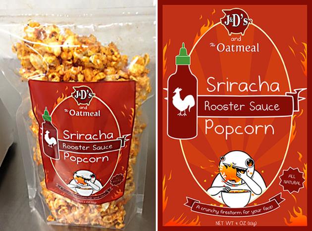 Sriracha-Popcorn