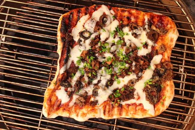 Korean BBQ Morel Pizza