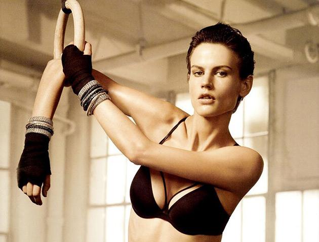 "Saskia de Brauw ""Let's Get Physical"" Editorial for H&M Fall 2012"