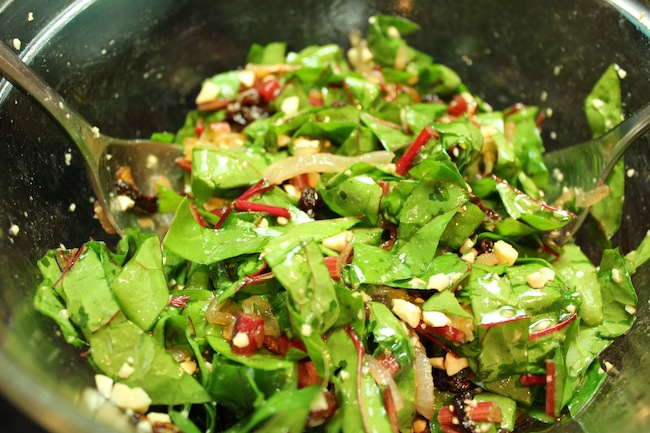 Wilted Swiss Chard Salad