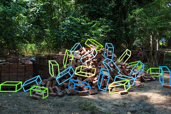 """Bricks"" by Aakash Nihalani"