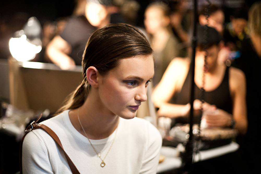 Backstage at New York Fashion Week - Spring 2013 - NYFW