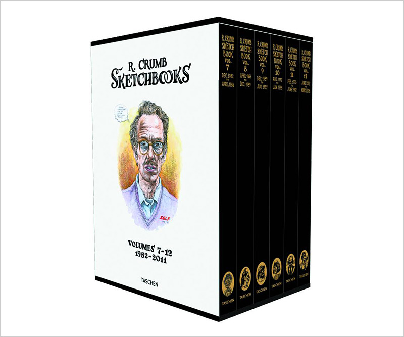 """Robert Crumb: Sketchbooks 1982-2011"" - A Massive Sketchbook Box"