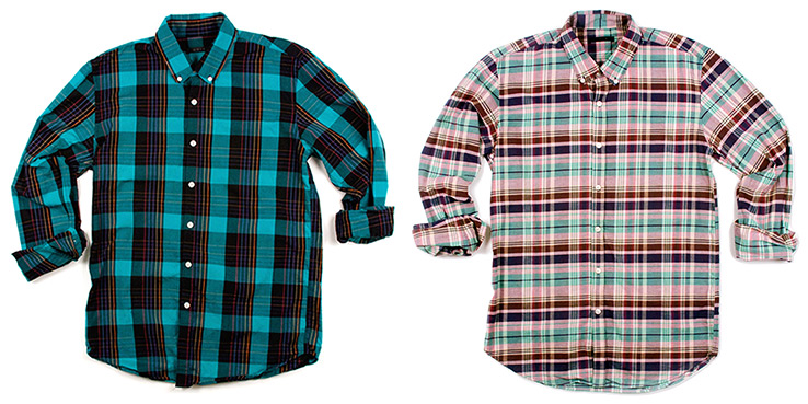 Unis Pre-Fall 2102 Flannel Shirts