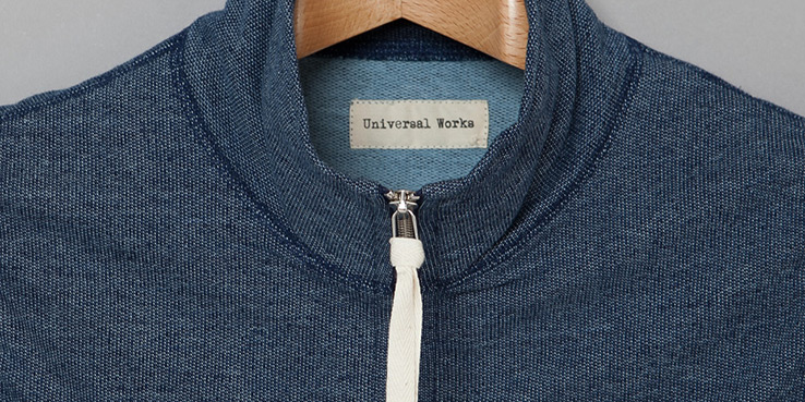 Universal Works Hope Gillet Indigo Fleece Vest