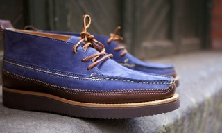 Yuketen Dress Chukka Boot in Blue
