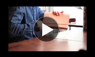 Bleu de Chauffe Leather 'Dejean' iPad Case