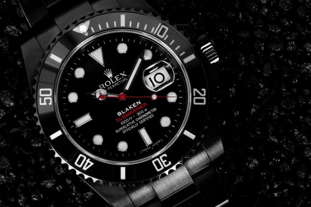 Limited to 25 pieces worldwide, the new custom Rolex Submariner from Germany's Blaken features a single touch date point in red