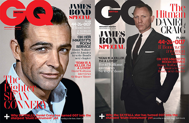 British GQ - 6 James Bond Leading Men Covers