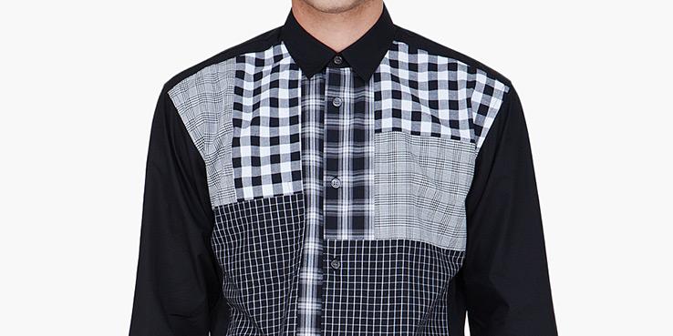 Comme Des Garçons SHIRT Black Checkered Shirt