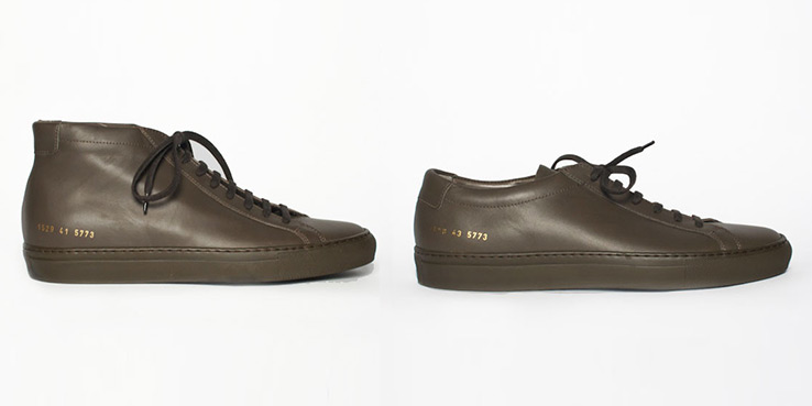 Common Projects Achilles Military Colorway Exclusive for UNIS