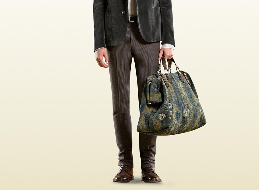 GUCCI Multicolored Jacquard Carry-On Duffle Bag