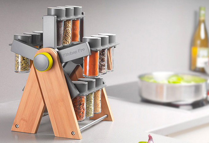 Kitchen Pro Ferris Deluxe Spice Rack