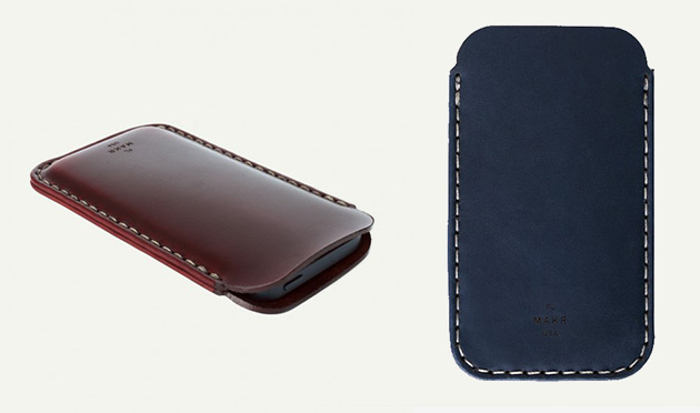 MAKR Horween Leather iPhone 5 Sleeves
