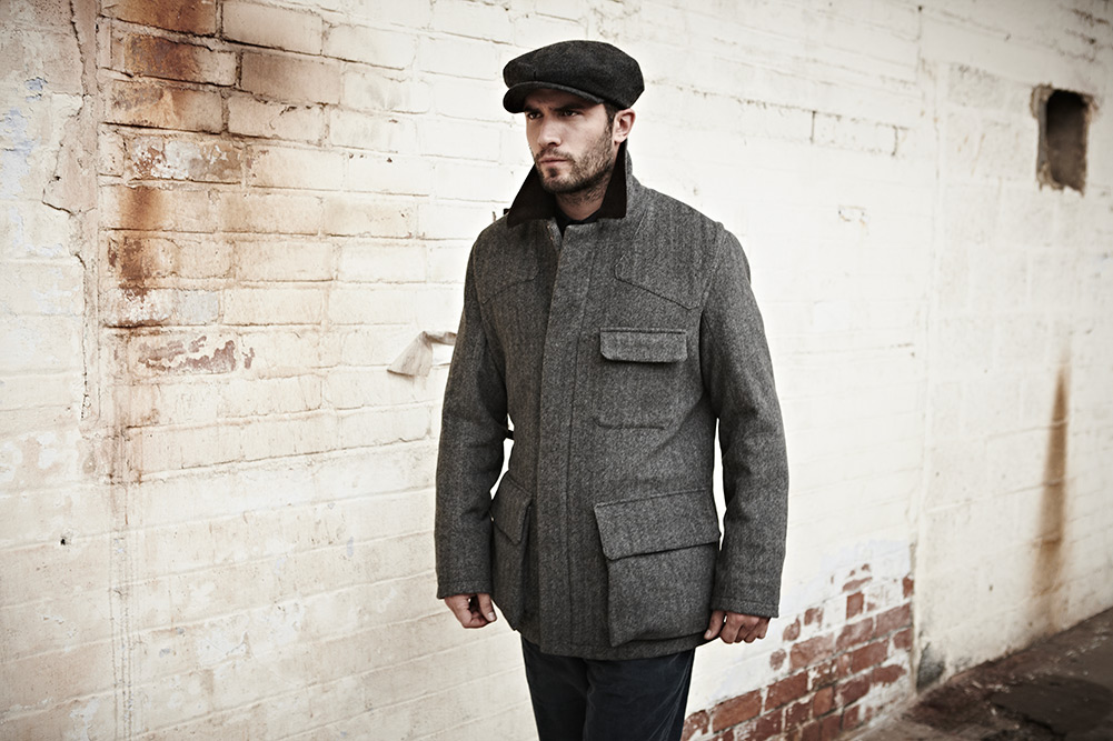 Private White V.C. Tweed Shooter Jacket