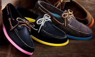 Sperry Top-Sider with Neon Soles – Barney's Exclusive