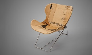 The RE-PLY Recliner Chair – Made from Corrugated Cardboard
