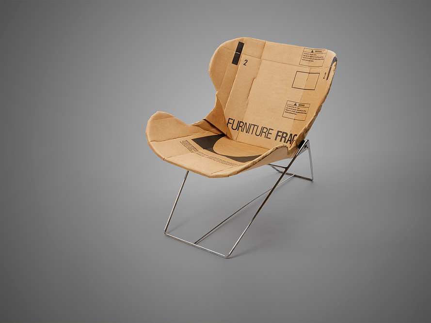 The RE-PLY Recliner Chair - Made from Corrugated Cardboard