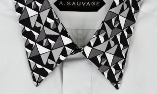 A.Sauvage Fall Winter 2012 Contrast Print Collar Shirt