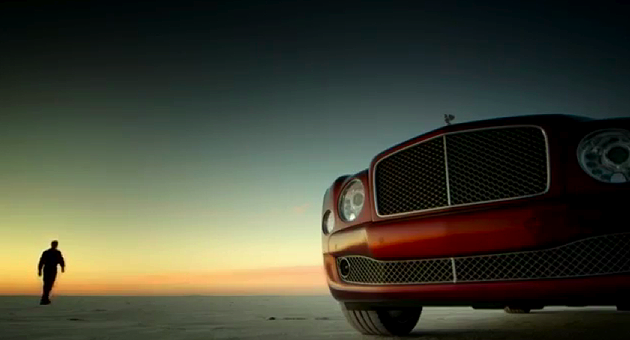 The Bentley Mulsanne nears 200mph on the Bonneville Flats