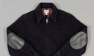 Big Yank 'Yankshire' Navy Melton Wool Sports Jacket